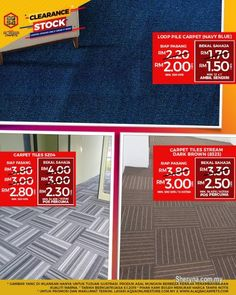 Other for sale, in Klang, Selangor, Malaysia. BUY NOW! SAVE NOW! Alaqsa Carpets is providing you the top rated product at the cheapest price i Flooring Store, Carpet Flooring, Vinyl Flooring, Carpet Tiles Cheap, Stock Clearance Sale, Grass Carpet, Booklet Printing, Office Carpet, Carpet Sale
