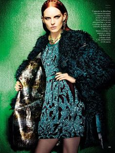 Karoline Bjornelykke photographed by Fabio Leidi for Glamour Italia January 2013