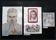 prep sheet A Level Art Collage Portrait, Collage Drawing, Painting & Drawing, Portraits, Kunstjournal Inspiration, Sketchbook Inspiration, Student Art Guide, A Level Art Sketchbook, Identity Art
