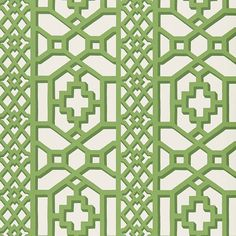 zanzibar-trellis-schumacher-wallcovering-pc-schumacher Green and White Wallcovering / Wallpaper En Vogue with Shayla Copas www.shaylacopas.com/blog