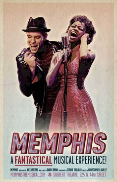 Memphis / July 10-15, 2012 / Starlight Theatre Kansas City - Gorgeous vintage-inspired Memphis Postcard- Send one to Mom and Dad