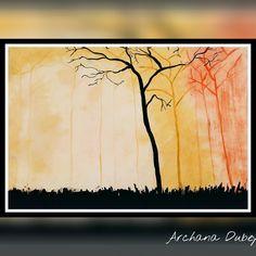 Landscape#oil painting#sunset