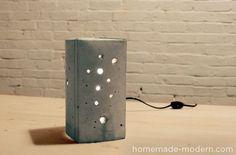 Небольшой светильник из бетона, отлитый в tetra pack пакете (сгодится любой пакет из под молока). Звучит необычно? Смотрится тоже! Идеальный проект, чтобы немно..