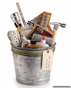 DIY Housewarming Gifts - Housewarming Bucket- Best Do It Yourself Gift Ideas for Friends With A New House, Home or Apartment - Creative, Cheap and Quick Crafts and DIY Ideas for Housewarming Presents - Mason Jar Gifts, Baskets, Gifts for Women and Men http://diyjoy.com/diy-housewarming-gifts