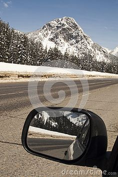 A fresh covering of snow blankets mountains over the pass on I-90