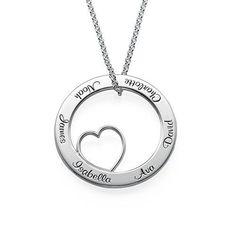 Family Love Circle Pendant Necklace | MyNameNecklace