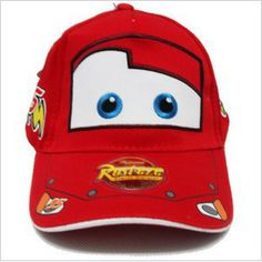 Baseball hat / Flat top hat Colour : BLUE / RED Adjustable Velcro Fit for children age 4 - 10 Matterial : Cotton