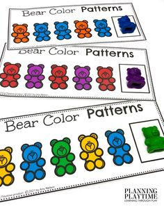 Can you complete the PATTERNS....or try making your own? - Morning Tubs: Bears