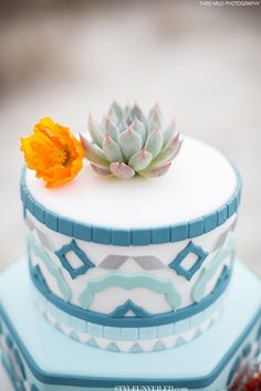 Teal, Grey, and Blue Moroccan Styled Wedding Cake / One Belle Bakery / Theo Milo Photography Beautiful Wedding Cakes, Beautiful Cakes, Amazing Cakes, Wedding Cake Cookies, Wedding Cake Decorations, Pretty Cakes, Cute Cakes, Fancy Cakes, Love Cake