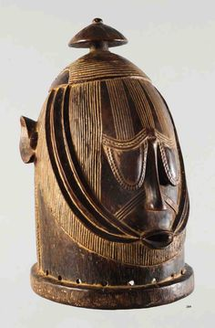 Africa | Helmet mask from the Igala people of Nigeria | Wood