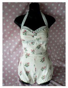 Maisy Brown Repro Retro: ROSEBUD - vintage styled swimsuit