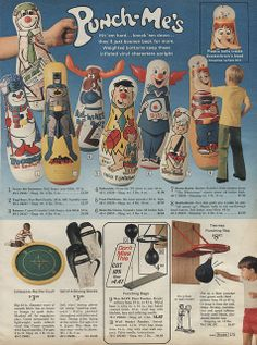 1971-xx-xx Sears Christmas Catalog P175   Loved punching my bozo punching bag
