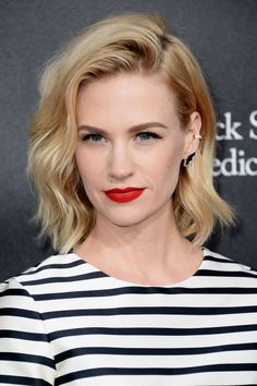 The bob and lob are two of spring's top cuts. See the 36 best celebrity takes on it—here, January Jones.
