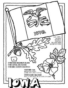 #Iowa State Symbol Coloring Page by Crayola. Print or color online.