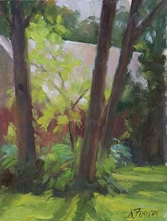 Sunday afternoon August by Susan Fuquay Oil ~ 8 x 6
