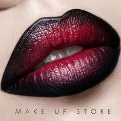 Lipstick Cherry and Eye Pencil Black. #makeupstore #makeupstorecosmetics #makeup #beauty #lips #lipstick #motd