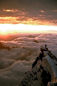 Clouds in Gross Glockner, Austria