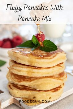 Store bought pancake mix is quick, easy and convenient. If you feel something is missing in your morning pancakes then this post is for you. I show you how to make pancake mix pancakes fluffier. Pin this to your breakfast recipes board to always have it handy.