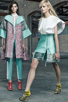 Antonio Berardi | Resort 2015 Collection | Love the outfit in front!