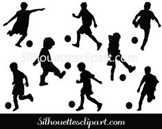 Children Playing Football Silhouette Download
