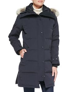 Pin for Later: Outerwear The Complete Glossary of Coats, Jackets, and More Parka A large windproof jacket with a hood designed to be worn in cold weather. Canada Goose Shelburne Parka With Fur Hood Hooded Parka, Parka Coat, Red Parka, Fur Coat, Canada Goose Fashion, Down Parka, Long Sleeve Tunic, Canada Goose Jackets, Coats