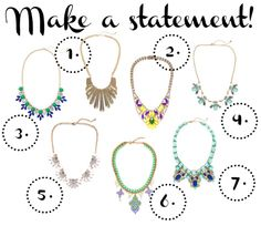 Statement necklaces: $25 and under! #style #jewelry