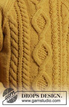Dětský raglánový pulovr s copánkovým vzorem pletený z příze DROPS Merino Extra Fine. Velikost: 2 roky – 10 let.