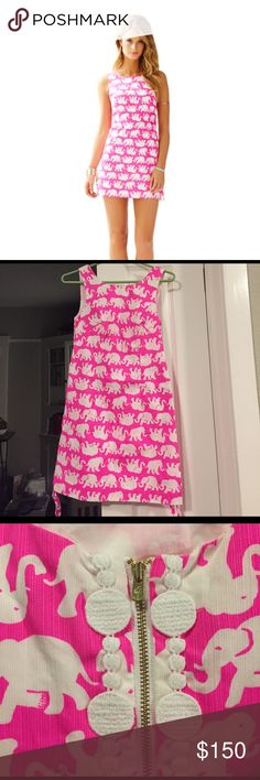 🐘EUC🐘00 Lilly Pulitzer Delia Dress Tusk in Sun Worn once!! It's in perfect condition and in crazy demand. The ties on the sides make it extra special. Lilly Pulitzer Dresses Mini