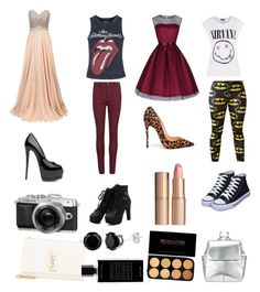 Untitled #99 by toxicupcakes on Polyvore featuring Jovani, Topshop, Rich & Skinny, Christian Louboutin, Yves Saint Laurent, Kin by John Lewis, Charlotte Tilbury, Agonist and Retrò