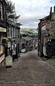 Haworth High Street - Yorkshire, England