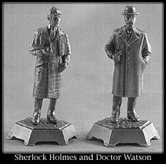 Pewter Sherlock Holmes & Doctor Watson