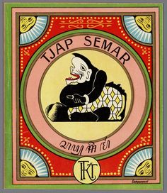 From the Memory of the Netherlands:  Semar is a Javanese wise fool and divine clown. One of the punakwan (comic characters) in a wayang play. Semar's appearance is rather grotesque; he has a large face and his mouth contains only a single tooth. On his head, he wears a black cap. Sometimes, one of his fingers is shaped like a phallus. Large breasts grow on his bare upper body. His enormous belly is also uncovered. He has an impressive behind, which produces farts continuously.