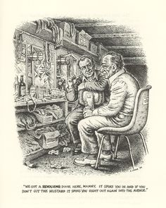 R. Crumb Illustrates Bukowski, two men who saw the world in all its ugliness but found ways to mask the evil with beauty and talent.