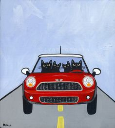 Mini Cooper in art