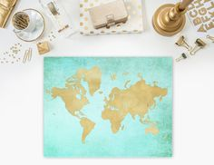 Personalized map wedding guest book watercolor world map anniversary travel mapworld map printableworld map posterold paper mapworld map printworld map wall artworld map home decoradventure digital gumiabroncs Gallery