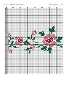 Cross Stitch Embroidery, Cross Stitch Patterns, Prayer Rug, Needlework, Floral, Flowers, Cross Stitch Borders, Cross Stitch Kits, Monogram Alphabet