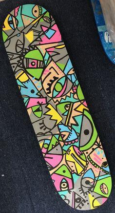 Painted Skateboard, Skateboard Deck Art, Skateboard Parts, Skateboard Design, Skateboard Girl, Collage Des Photos, Longboard Design, Skate Art, Cool Deck