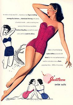 Vintage Lingerie Vintage ads for women's swimsuits - Found at Community Livejournal. Retro Ads, Vintage Advertisements, Vintage Ads, Vintage Posters, Vintage Glam, Vintage Beauty, Vintage Paper, Vintage Signs, Vintage Style