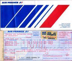 AF 1983 Air France Dang's Montreal Mirabel YMX-Paris CDG-Montreal Mirabel YMX Ticket.