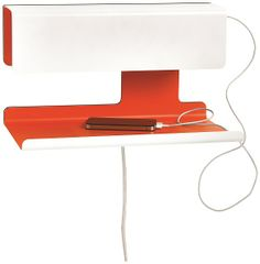 Tray table lamp with USB