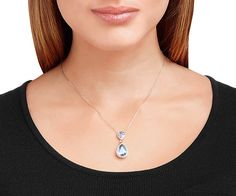 LOVE. Christie Double Pear Necklace from #Swarovski