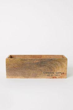 Small wooden storage box - Light wood - Home All Outdoor Storage Boxes, Wooden Storage Boxes, Small Storage, Bag Storage, Mini Watering Can, Hm Home, Wood Basket, Small Boxes, House In The Woods