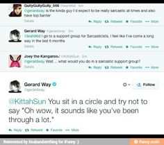 Gerard's tweets are the best.