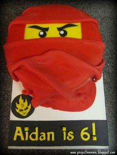 Ninjago Cake, has my babes name written all over it, literally...