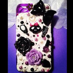 bling cell phone case for iphone 4 by ChamberOfCouture on Etsy, $35.00