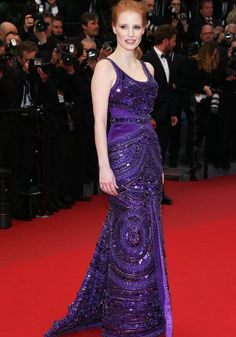 Jessica Chastain in Givenchy Couture.