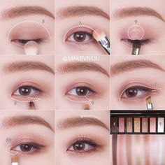 "History of eye makeup ""Eye care"", put simply, ""eye make-up"" has always been a Korean Makeup Look, Asian Eye Makeup, Eye Makeup Steps, Natural Eye Makeup, Kiss Makeup, Cute Makeup, Simple Makeup, Beauty Makeup, Dead Makeup"