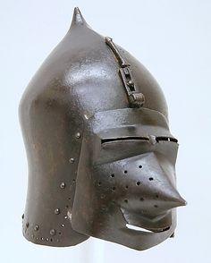 Helmet (Basinet, Visored) Date: ca. 1370 Culture: German Classification: Helmets