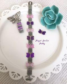 Miyuki, delica, peyote, bracelet, boncuk, bileklik, takı, jewelry, kelebek, butterfly