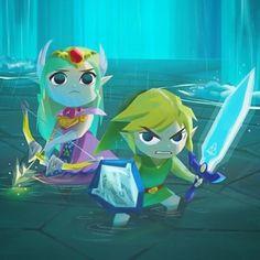 The Legend of Zelda Windwaker Zelda and Link WEBSTA @ evelmiina